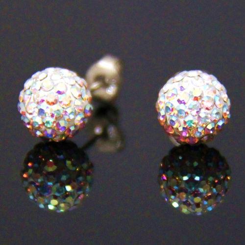 10mm 2 Iridescent - Single Glamour Ball Earrings